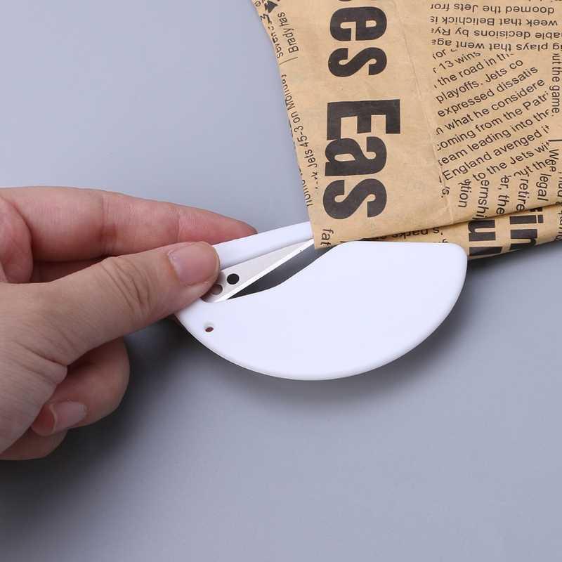 البلاستيك الة قطع الورق البريد المغلف رسالة فتاحة معدات مكاتب السلامة القاطع اللوازم المدرسية