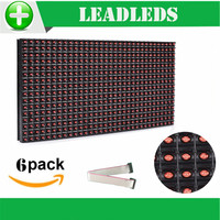6PCS 320 160mm 32 16pixels P10 Outdoor Waterproof Red Led Module For Single Red Color P10