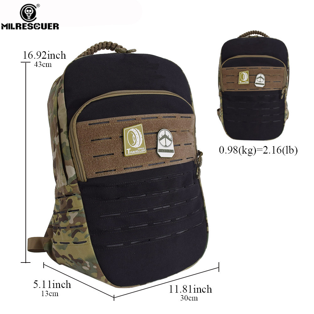 48727f69b826 MILRESCUER 25L Tactical Backpack 15 Inches laptop Cordura Military ...