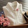 New 2016 spring women blouses Shirts fashion ladies blusas Satacado roupas femininas camisas vintage Embroidery tops for female
