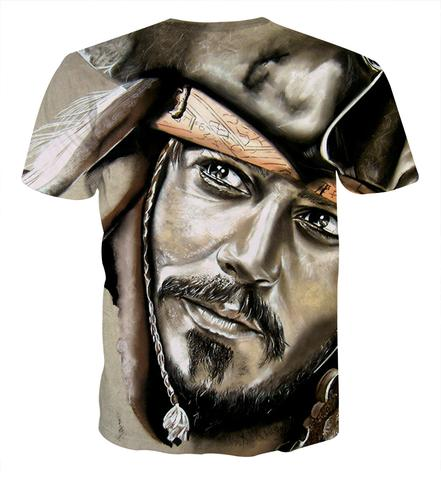 2018 new fashion Men Women cool 3d print the Pirate Captain of Jack Short Sleeve Summer Loose Leisure Streetwear clothing