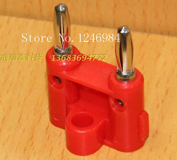 [SA]4MM double banana plug test head red black power connector adapter type A-10101--100PCS/LOT