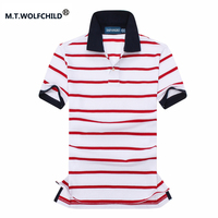 Hot Sale 2017 Summer Mens Short Sleeve Striped Polo Shirts 100 Cotton Mens Polos Casual Clothing