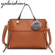 все цены на Woman Tote leather Hand Bags Sac Bols Femme Shoulder Bag Sac A Main luxury handbags women bags designer women messenger bag New онлайн