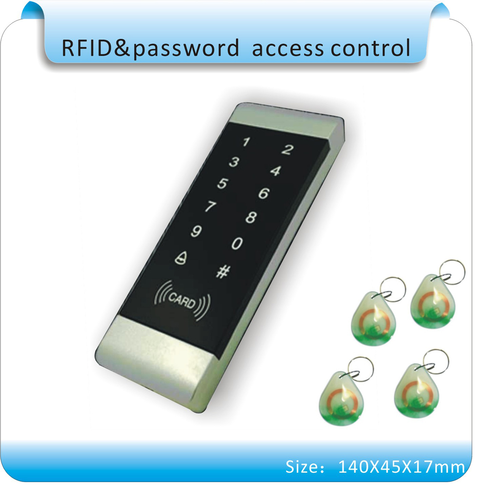 Free shipping T7 Access Control Keypad Standalone touch keys Outdoor Door Open Keyboard +10pcs 125KHZ crystal keybos free shipping c40 125khz rfid password metal case touch keyboard led light access controller 10pcs crystal keyfobs