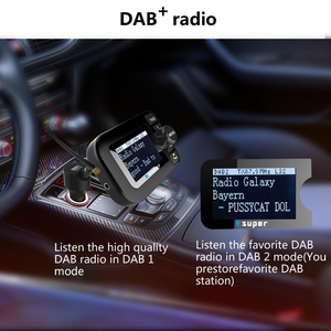 Image 4 - DAB 105 Multifunction Wireless Car Kit 5V/2.1A LCD Display Car Charger Bluetooth Handsfree Mp3 player DAB Adapter FM Transmitter