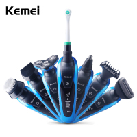 Keimei Multi Waterproof IPX4 Electric Shaver Triple Blade 7 In 1 Electric Shaving Razors Men Face