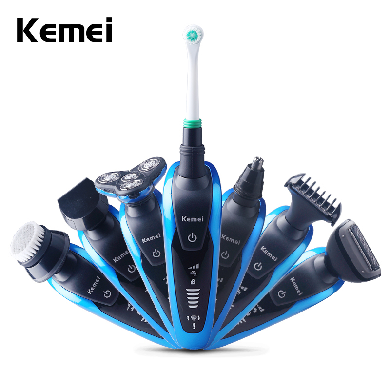 Keimei Multi Waterproof IPX4 Electric Shaver Triple Blade 7 in 1 Electric Shaving Razors Men Face Care 3D Men Shaver 220V philips brl130 satinshave advanced wet and dry electric shaver