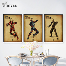 Marvel Movies Print Canvas Poster Mark 29 Mark33 Super Heroes Wall Art Pictures Paintings For Unique Gift Home Decor