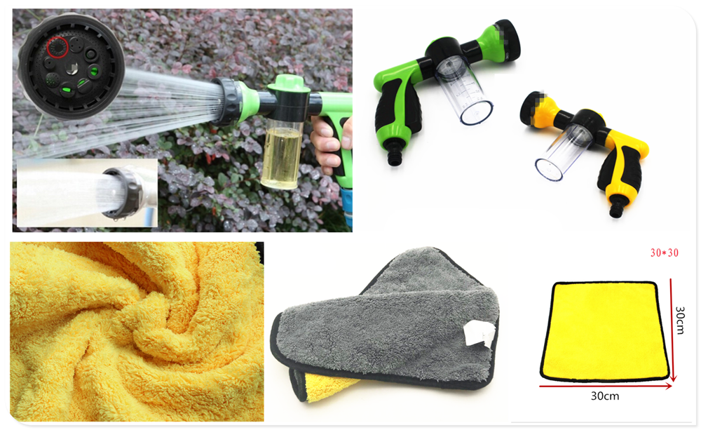 Car motorcycle cleaning and maintenance tools rag foam high pressure spray for