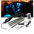 Carro-styling okeen levou controle remoto sem fio carro 4x12 led rgb 12 v RGB LED Neon Tira Lâmpada Interior Luz Para Audi a4 b5