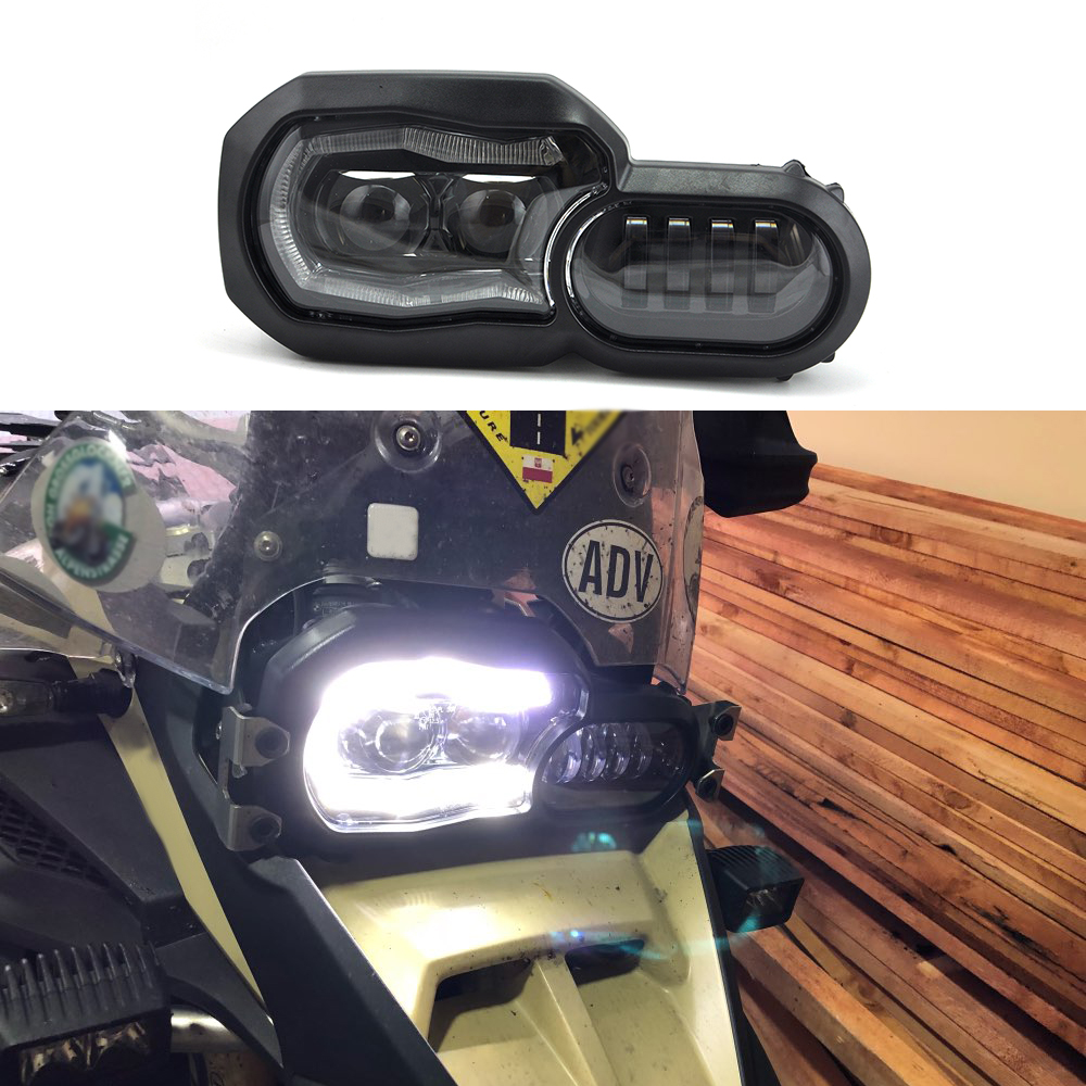 KEMiMOTO Motorcycle Headlight for BMW F700GS F800GS Adventure F 800 GSA 2013 2016 Complete LED Projector Headlight Assembly