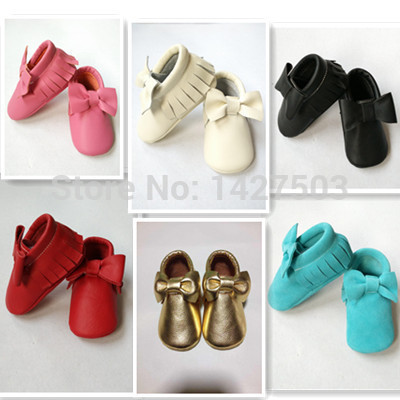 Highquality100 % Cuero Genuino Del Niño Del bebé mocasines de borla arco zapatos de bebé Primeros Caminante antideslizantes Zapatos Infantiles Del envío gratis