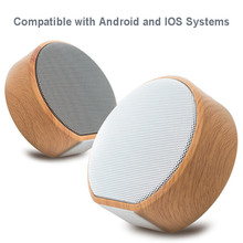 Portable Mini Wood Grain Wireless Bluetooth Speaker Subwoofer Audio Stereo Loudspeaker Sound System Support AUX TF wireless bluetooth speaker sc208 computer mini dual speaker portable small stereo car subwoofer support tf card usb disk