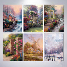 Thomas landscape beautiful oil painting core modern frameless decorative living room hotel corridor