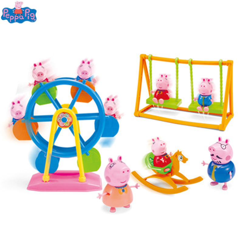 Peppa Pig Ferris Wheel George Family Toys Doll Peppapig Amusement
