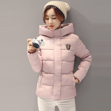 2017 New Design Women Parkas Short Women Cotton Padded Jacket Autumn Winter Women Jackets Coats with Hooded Plus Size
