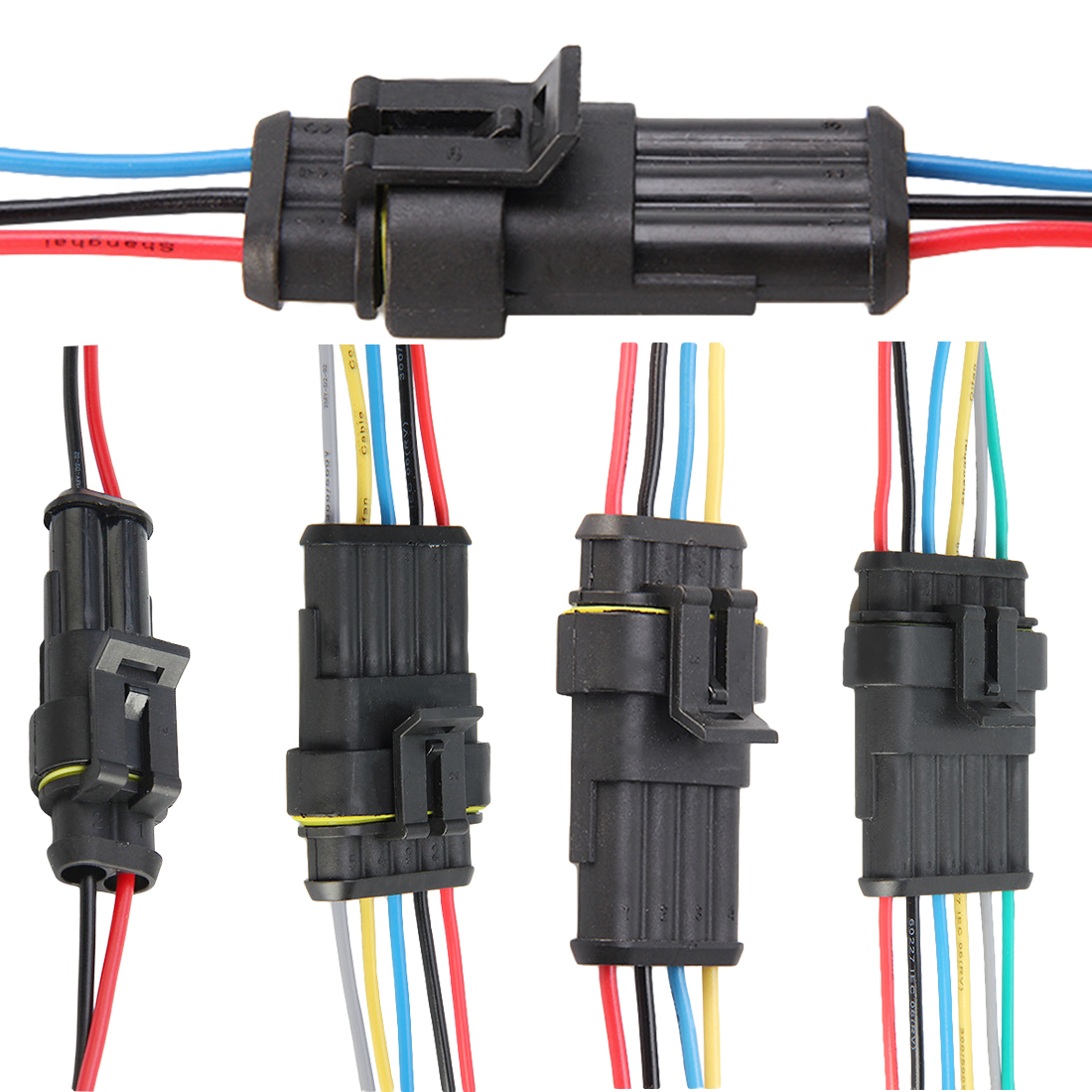 small resolution of 1 sets lots 2 3 4 5 6 pin car waterproof electrical connector plug with electrical wire cable car auto truck wire harness aliexpress com imall com