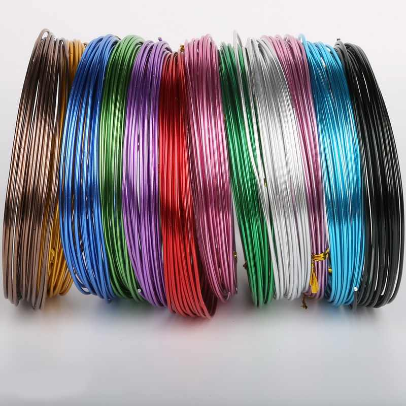 3-10meter 1/1.5/2/2.5mm Soft Aluminium Wire Aluminium Craft Floristry Wire For Bracelet Jewelry Making DIY Findings