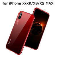 2018 Luxury Metal Case for iPhone XS Cover with Glass Back Skin for iPhone X/XR/XS MAX Ultra thin Shell Free Screen Protector