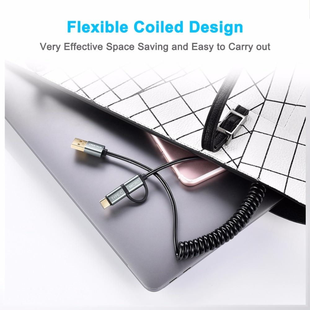 CHOETECH QC3.0 Kabel USB typu C do Samsung Galaxy Note 9 S9 3A Kabel - Części i akcesoria do telefonów komórkowych i smartfonów - Zdjęcie 5