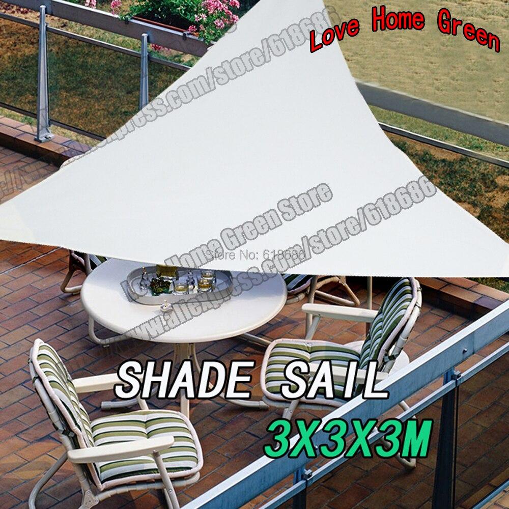 Aliexpress.com : Buy Waterproof Triangular Patio Sun Shade Sail Combination  Shade Net Awning Canopy Garden Tent Shade 3X3X3M From Reliable Patio Sun  Shades ...