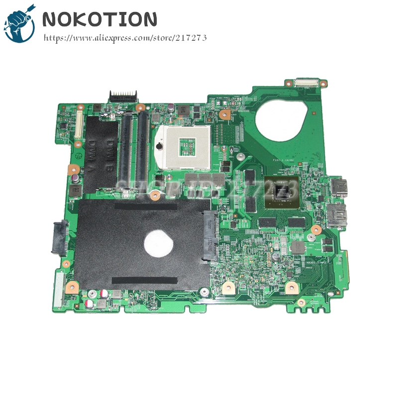 NOKOTION For Dell inspiron N5110 Laptop Motherboard CN-0J2WW8 0J2WW8 J2WW8 HM67 DDR3 GT525M 1GB nokotion cn 0uw953 uw953 mainboard for dell inspiron 1501 laptop motherboard 0uw953 ddr2 socket s1