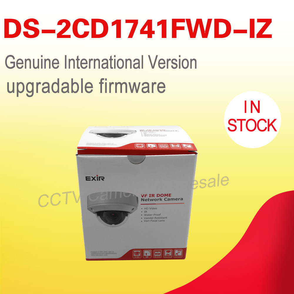 Free shipping English version DS-2CD1741FWD-IZ replace DS-2CD2745F-IZS 4MP network dome ip security camera motorized VF lens