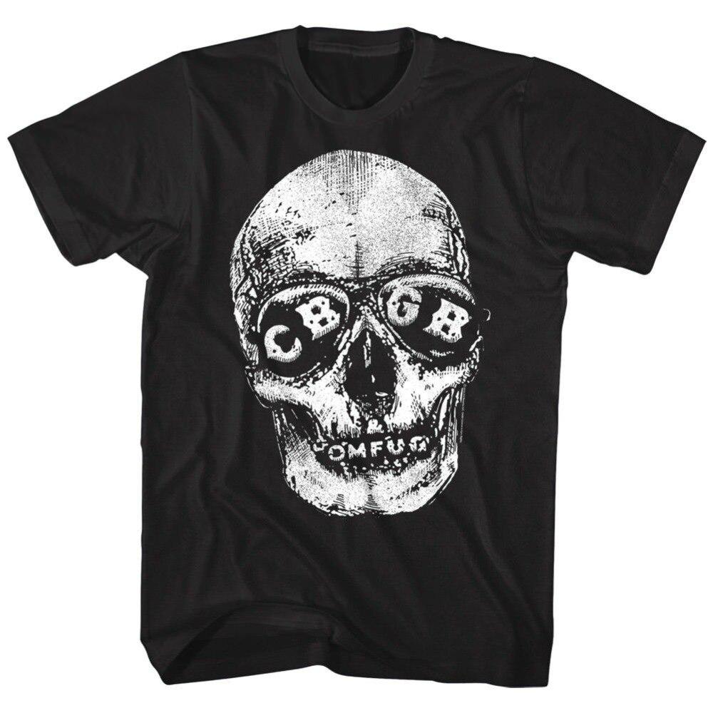 Nova marca 2019 verão masculino curto oficial cbgb omfug crânio óculos de sol do vintage camiseta bonito t camisas