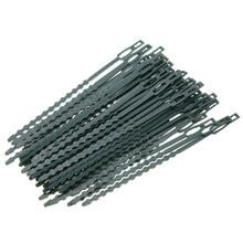 50 шт./лот, регулируемые пластиковые кабельные стяжки для растений, многоразовые кабельные стяжки для садового дерева, скалолазания