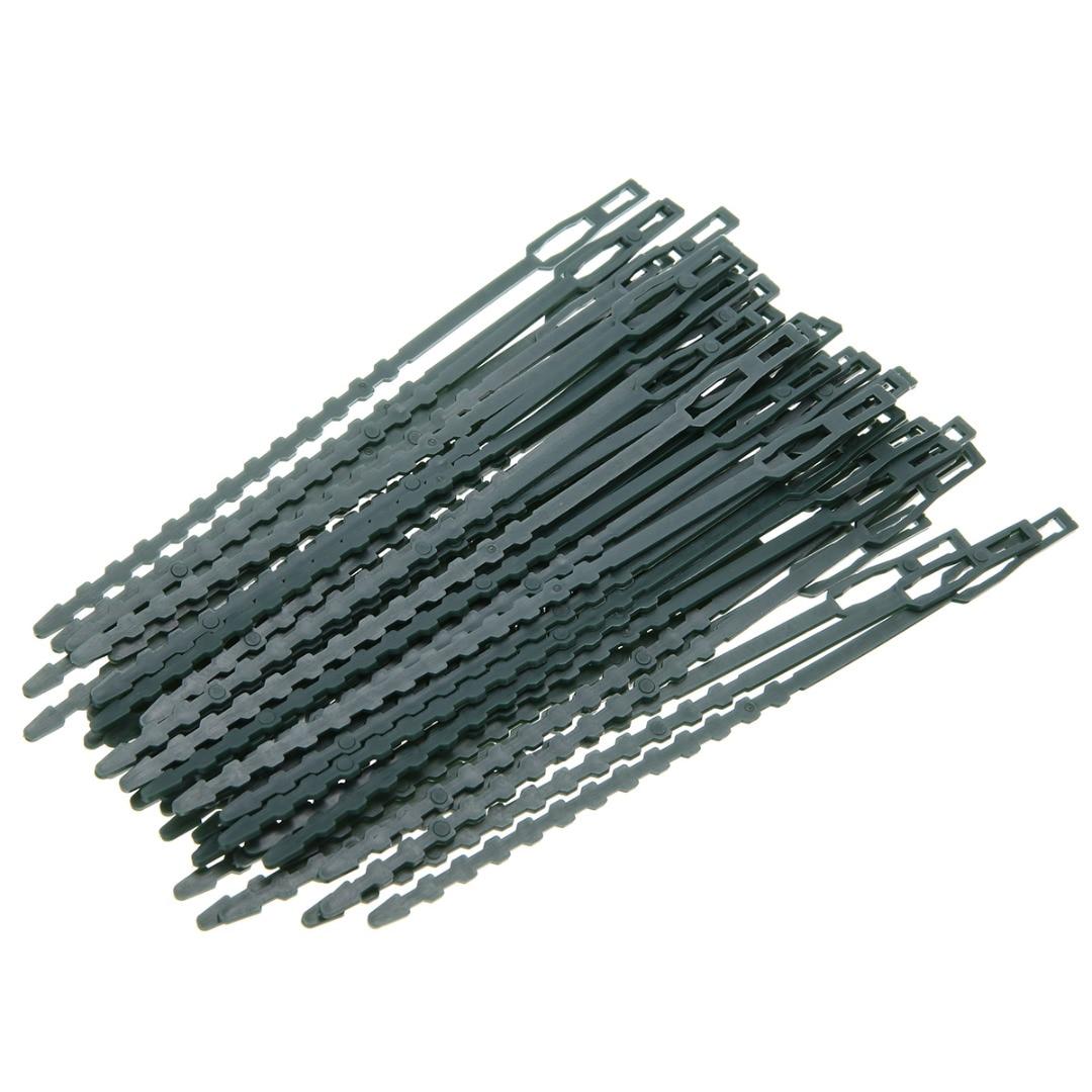 50 stks / partij Verstelbare Plastic Plant Kabelbinders Herbruikbare - Tuinbenodigdheden