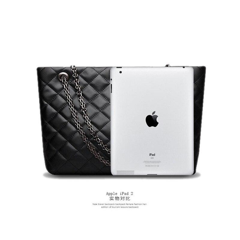 Bagaj ve Çantalar'ten Üstten Saplı Çanta'de Lüks çanta kadın çanta tasarımcısı Hakiki Deri siyah La borsetta Inek Derisi Bayanlar zincir Hasp alışveriş çantası Kapasiteli Tote Bols'da  Grup 3