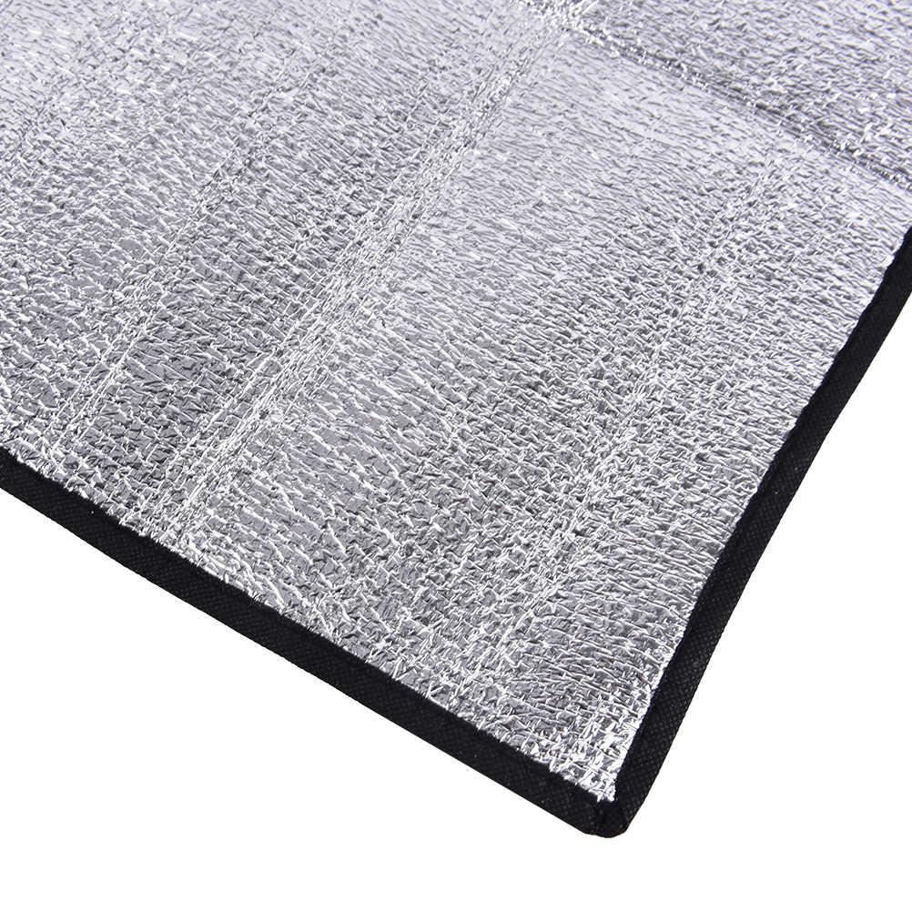 Waterproof Aluminum Foil EVA Camping Mat Foldable Folding Sleeping Picnic Beach Mattress Outdoor Mat Pad 50*50*0.25cm
