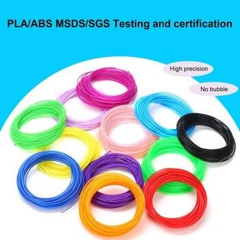 5mx 10/20 colors/set 3D Printing Material 3D Pen Filament PLA ABS PCL 1.75mm Plastic Refill For 3D Impresora Drawing Printer Pen