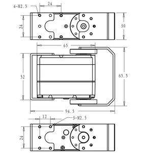 Image 5 - 1X serwo robota HV wysoki moment obrotowy serwo 60kg RDS5160 serwomechanizm cyfrowy z metalowymi zębatkami arduino serwo duże serwo