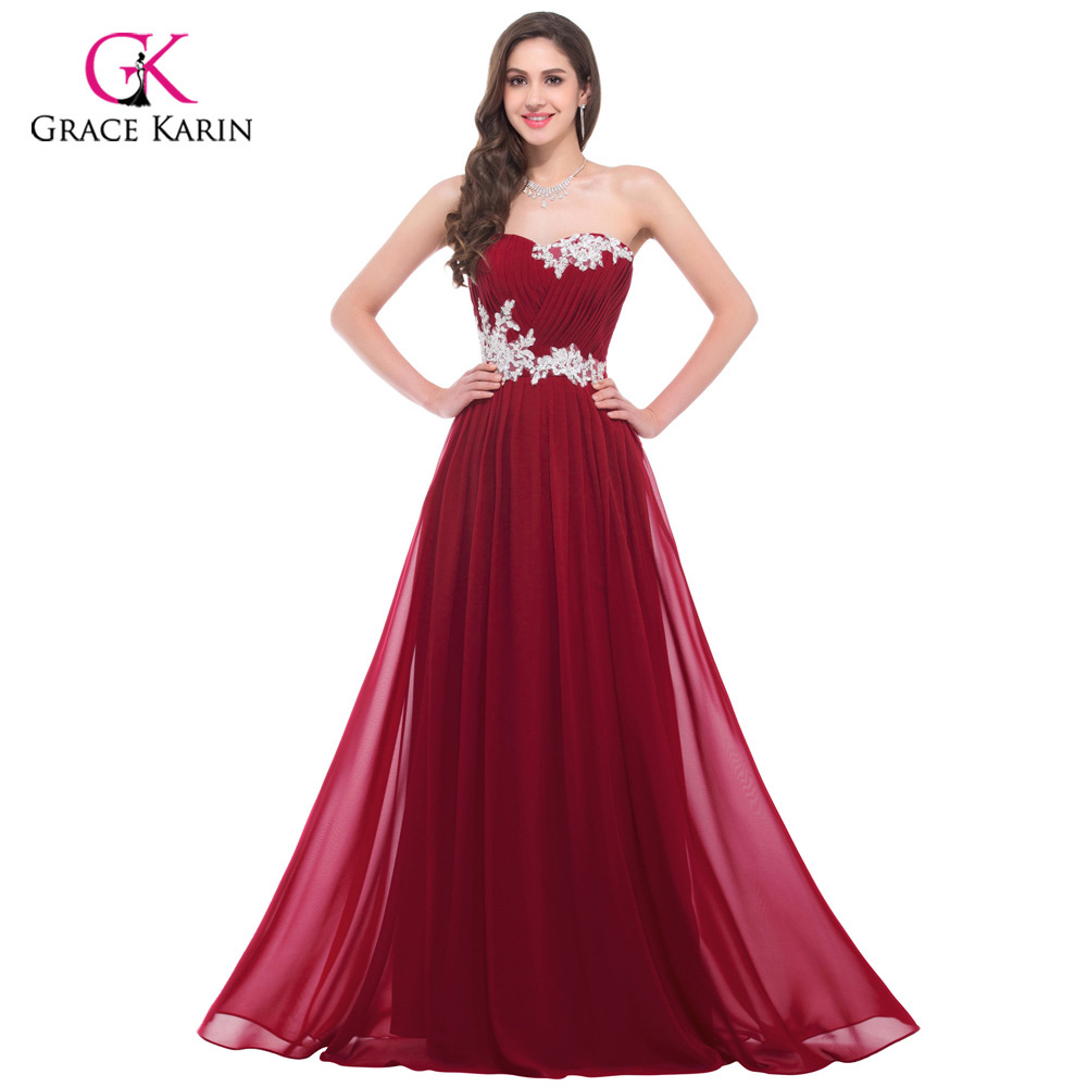 Elegant Long Prom Dresses 2018 Chiffon Vestido de Festa Party Gown ...