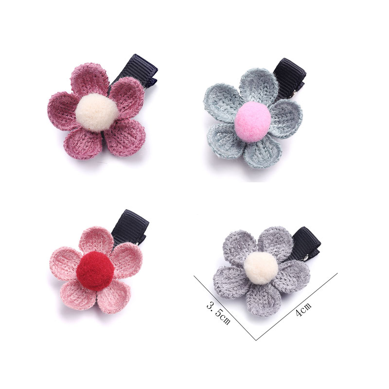 M MISM New Multicolor Knitted Flower Hairgrip for Girls Children Cute Hairpins Hair Accessories Head Wear Hair Clips for Kids m mism classic nonwoven flower for kids hairgrip girls children cute hairpins hair accessories head wear hair clips