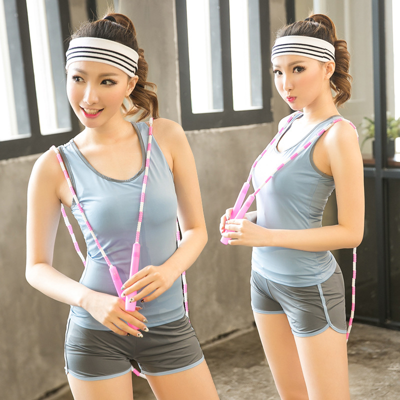 Yoga Suit Female Spring/summer Dance Show Thin Vest Shorts Suits Gym Running Uniforms
