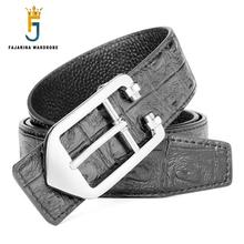 FAJARINA Unique Designe Quality Fashion Cowhide Genuine Leather Clasp Pattern Slide Buckle Belts for Men Belt Strap Jean LUFJ589