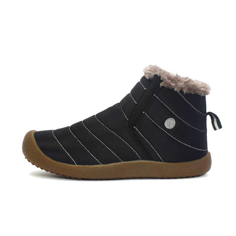 PINSEN 2019 Moda Kadın Kış kar ayakkabıları Kadın Çizme Hafif yarım çizmeler Sıcak Tutmak Su Geçirmez Bayan yağmur çizmeleri