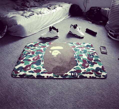 Exquisite Camouflage Bape Rug Carpet Mat Non Slip Pet Living Room 4060CM