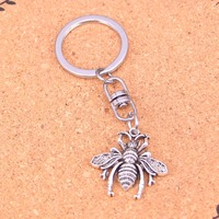 20Pcs bee bug Keychain Novelty Gadget Trinket Souvenir Christmas Gift Keychain Drop Shipping