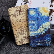 Flip phone case for Alcatel One Touch pixi 3 5017 5019 4027 D Painting fundas wallet style cover for 4 Plus Power 5023 5045 5010