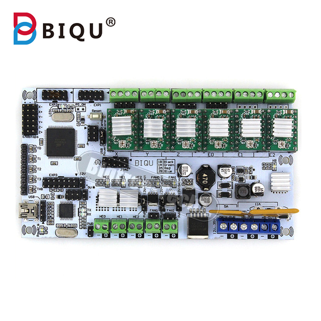 BIQU Rumba control Board For 3D printer motherboard rumba MPU RUMBA optimized version  with 6pcs A4988 Stepper Driver flsun 3d printer big pulley kossel 3d printer with one roll filament sd card fast shipping