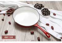 Enameled iron thickened pan induction cooker gas non stick pot grill fried eggs steak single handle frying pan cookware