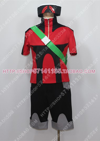 Pokemon Emerald Yuki Brendan Set Cosplay Costume Any Size image