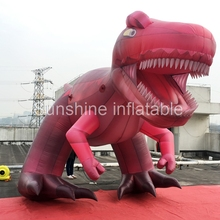 Customized 5.9m high resolution printed giant inflatable dinosaur fixed animal model for advertising