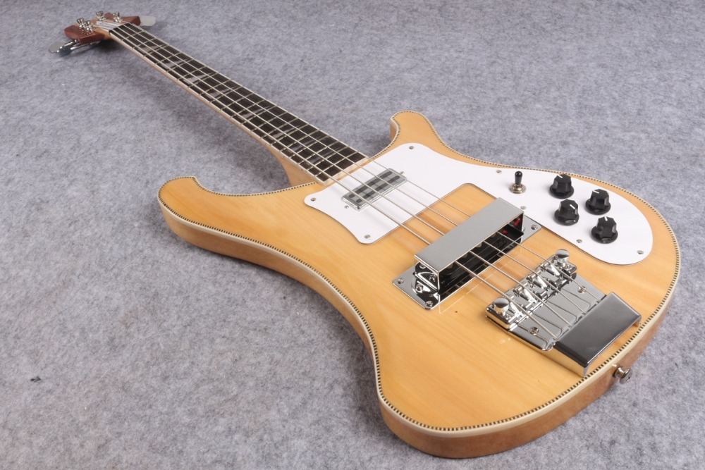 NEW Ric 4003W Natural Bass vintage 4003 Electric Bass Guitar Neck Thru Body One PC Neck
