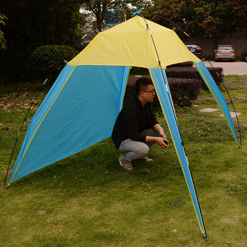 175150140cm Outdoor Camping Sun Shelter Shade Beach Tent for Summer Holiday Fishing Swimming Boat Fishing Roof Tent 3-4 Person (5)