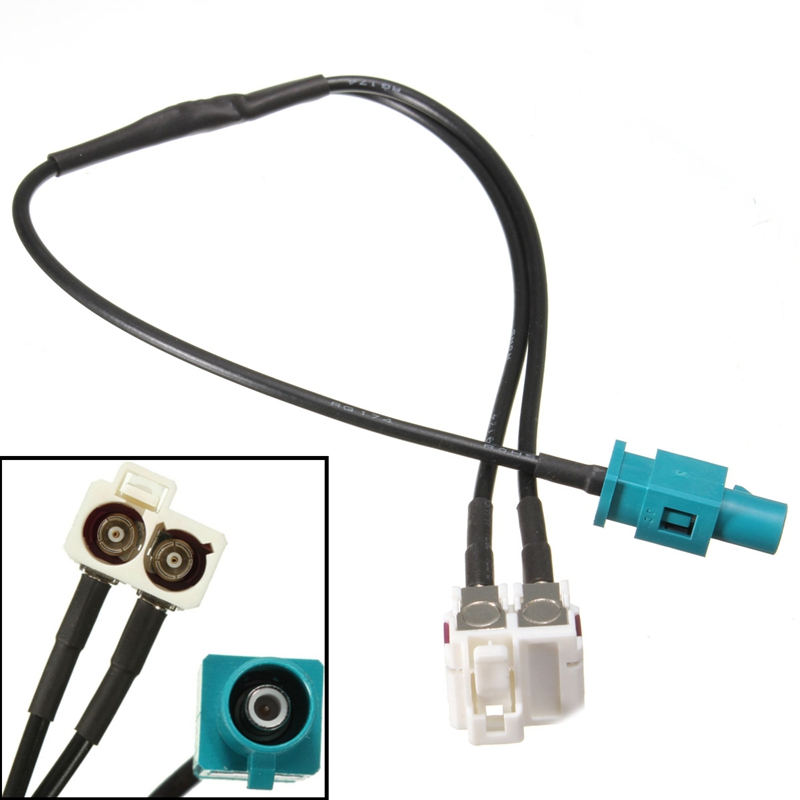 Diversity 2 Fakra to 1 Fakra Radio Antenne Adapter Connector FAKRA For VW Skoda RNS510 RCD510 RNS310 RNS315 biurlink car usb cable audio input adapter for skoda octavia radio rcd510 rns315